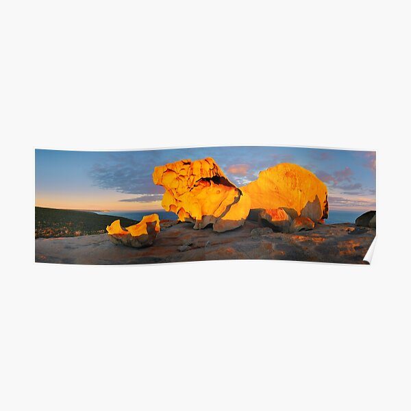 Remarkable Rocks Sunset, Kangaroo Island, South Australia Poster