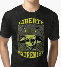 LIBERTY EXTREMIST GOLD 1 Tri-blend T-Shirt