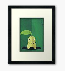Pokemon - Chikorita #152 Framed Print