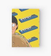 Gene Belcher Keyboard Pattern Yellow Hardcover Journal