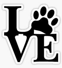 LOVE DOG PAW Sticker