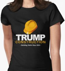 Donald Trump Construction Building Walls Since 2016  Women's Fitted T-Shirt