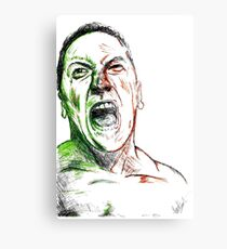 Jimmie Saffar Drawn as The Incredible Hulk Metal Print