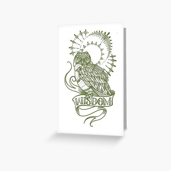 wisdom owl tattoo shirt Greeting Card