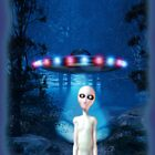 Forest UFO Close Encounter by mdkgraphics