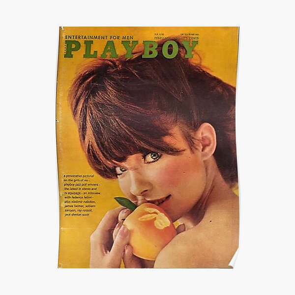 Vintage Playboy Covers febrero de 1966 Póster