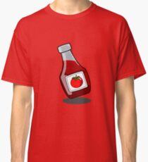 Cartoon Ketchup Bottle Classic T-Shirt