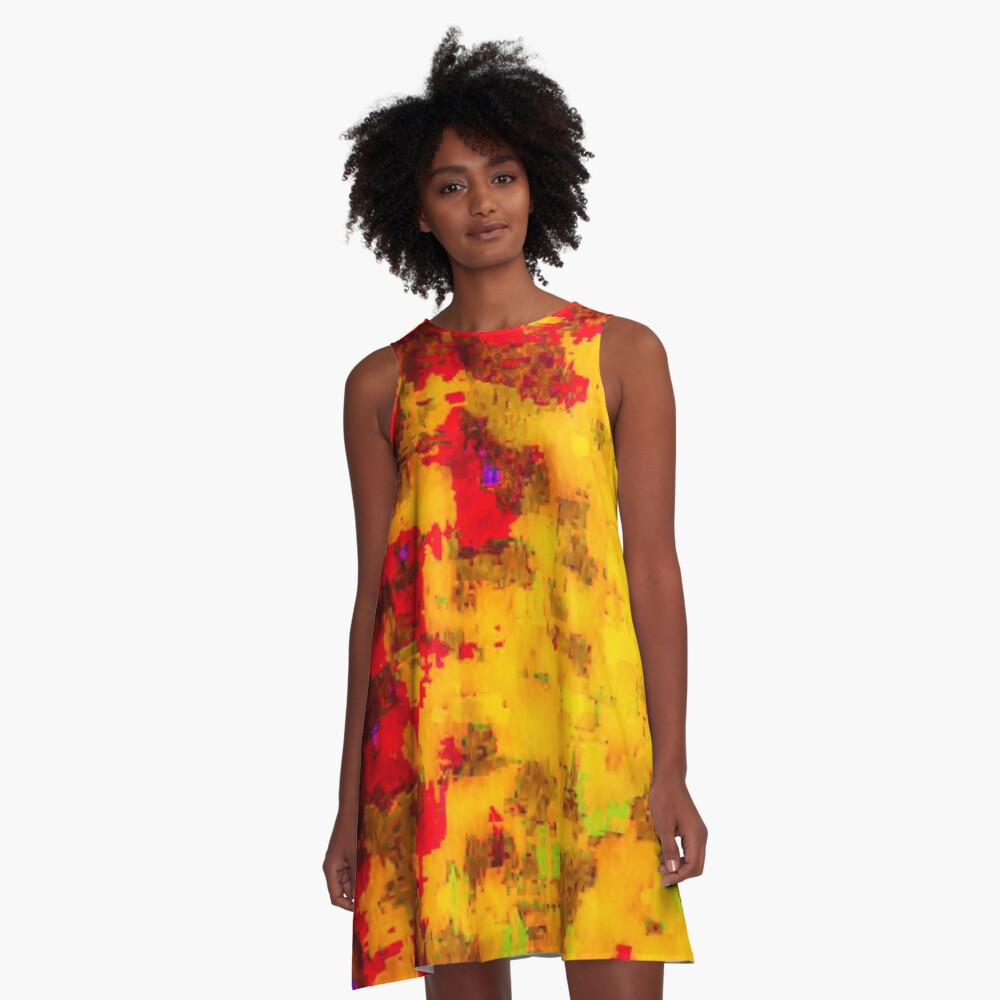 Pila Fashion Design - Abstract A-Line Dress Front
