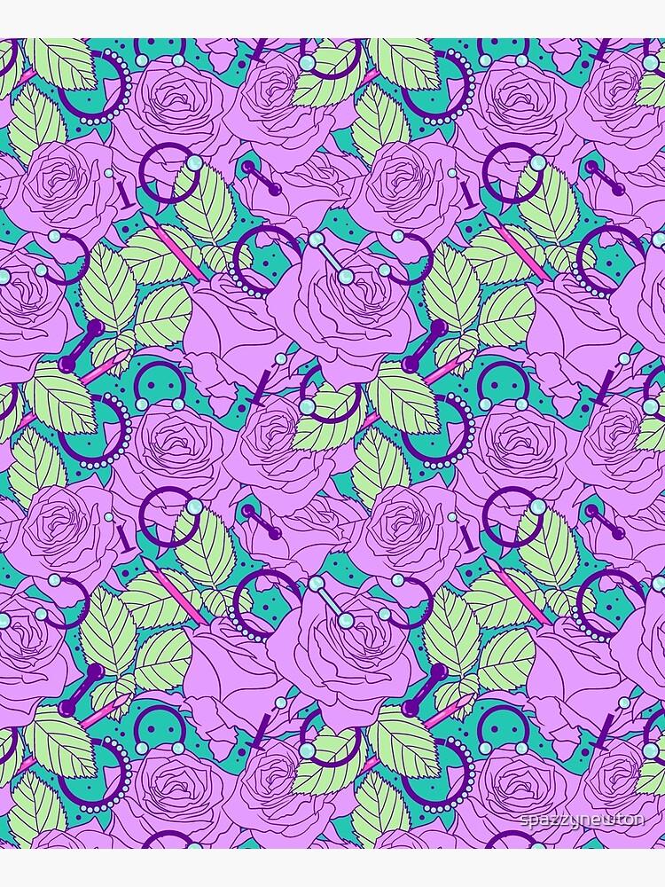 Pastel Needles&Roses by spazzynewton
