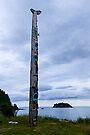 T'aanuu Llnagaay Totem Pole @ Haida Heritage Center by Yukondick