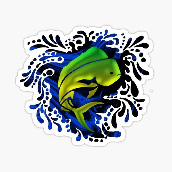 Funky Mahi Mahi Print Sticker