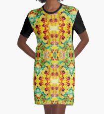 Pila Fashion Design - Hibiscus Series Graphic T-Shirt Dress