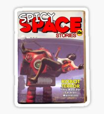 Spicy Space Stories Fake Pulp Cover Sticker