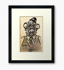 Horrible Fish Man Framed Print