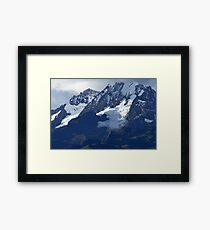 Blue Cold Glacier Framed Print
