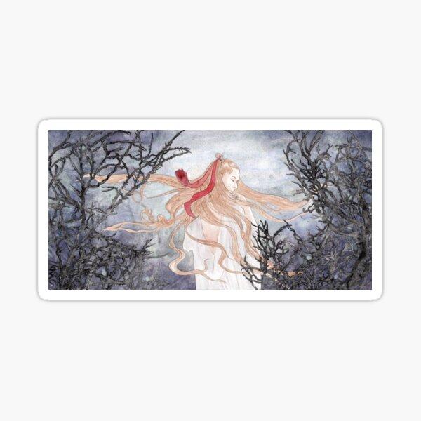 Watercolor fantasy artwork To Interfere Sticker