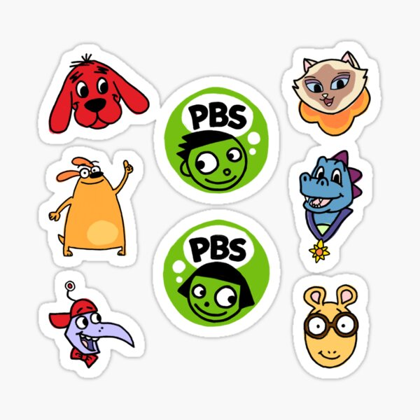 Public Television Heroes PBS Kids Sticker