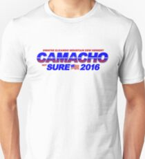 CAMACHO / not SURE - 2016 for Presidential - Idiocracy Party Unisex T-Shirt