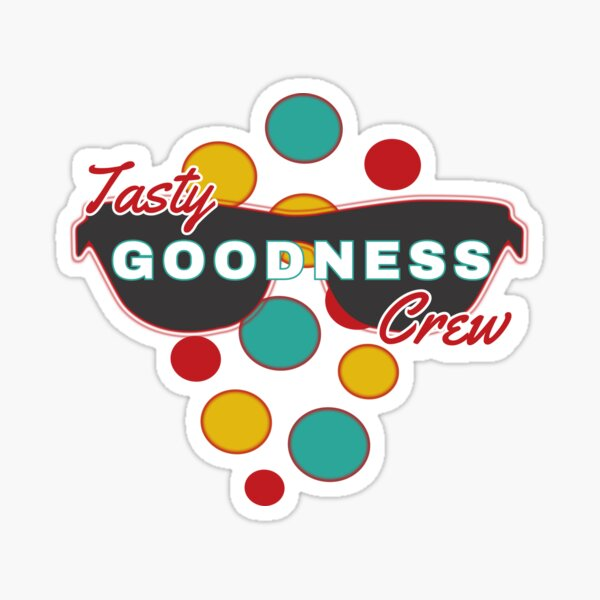 Tasty Goodness Crew - with colorful dot accessories - Fun & Expressive  Sticker