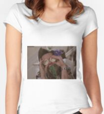 Ace Ventura Asparagus Women's Fitted Scoop T-Shirt
