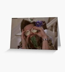 Ace Ventura Asparagus Greeting Card
