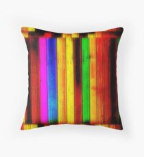 Painted Boards Throw Pillow