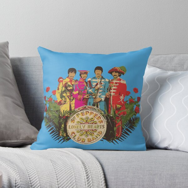 Sergeant Pepper - Minimalist Album Cover Throw Pillow