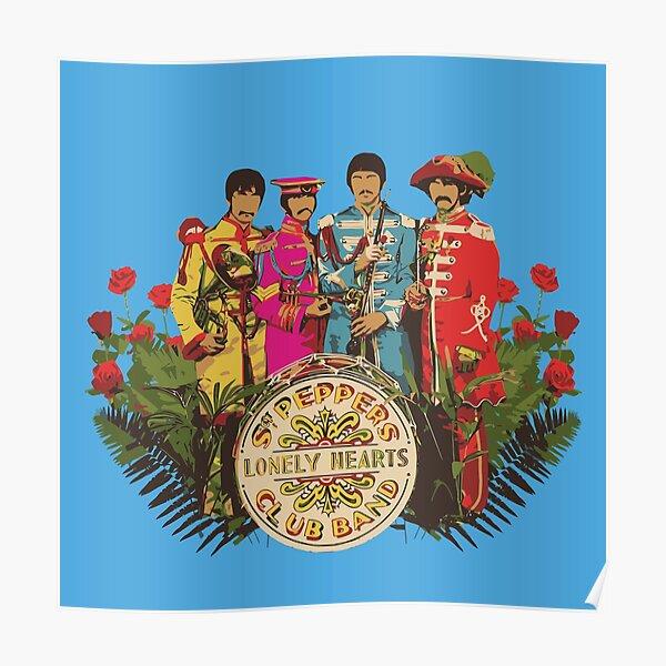 Sergeant Pepper - Minimalist Album Cover Poster