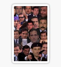 Michael Scott Collage Sticker