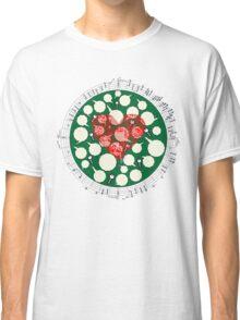 Broken Heart Ticks in Green Classic T-Shirt