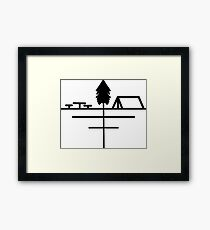 Minimalistic Campsite  Framed Print