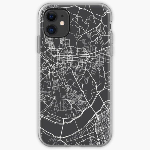 Seoul-Karte, Südkorea - Grau iPhone Flexible Hülle