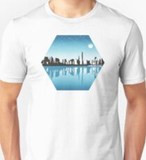 Cityscape, Skyline, Metro, Night T-Shirt