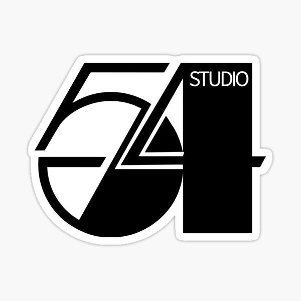 studio 54, vintage, simple black  Sticker