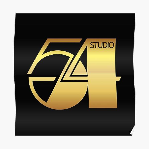 studio 54, vintage, gold Poster