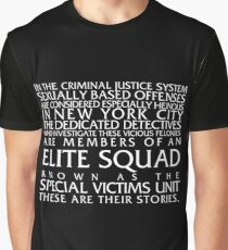 Law and Order:SVU Special Victims Unit Introduction Dick Wolf Classic Graphic T-Shirt