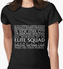 Law and Order:SVU Special Victims Unit Introduction Dick Wolf Classic Womens Fitted T-Shirt
