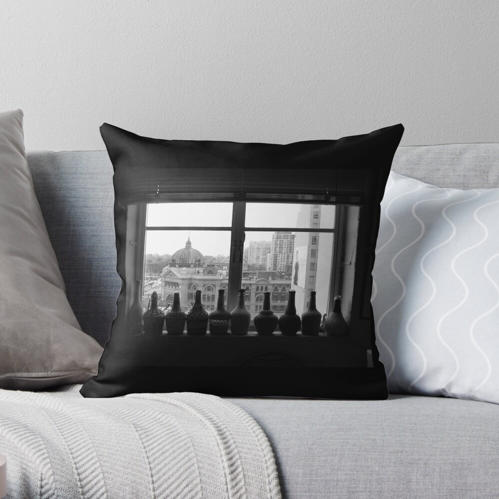 Flinders St Inside & Out Throw Pillow
