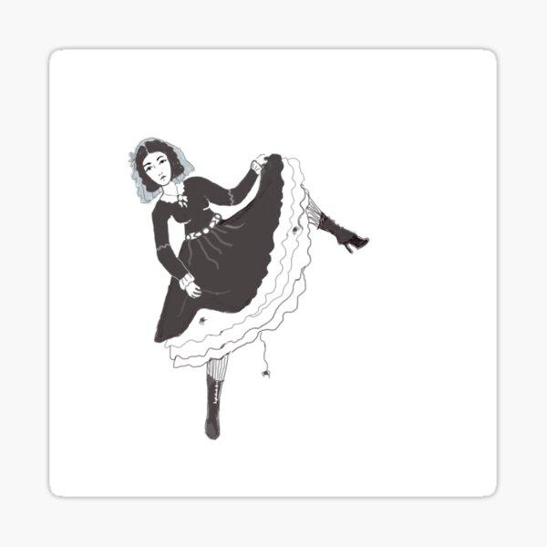 Lola Montez Dancing Her Spider Dance Sticker