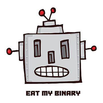Eat My Binary by mattallandesign