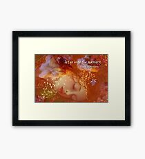 Let go into the Mystery Framed Print