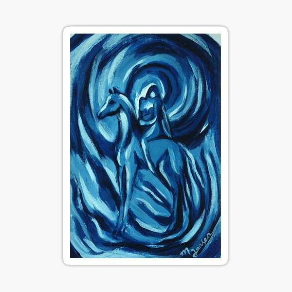 Blue Amazon Sticker
