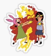 Louise and Tina Sauce Sticker
