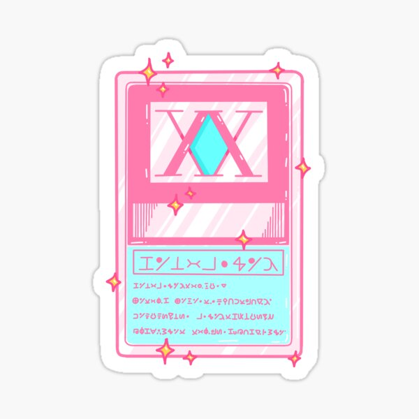 Hunter License (Pink Edition) Sticker