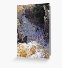 Standing on the edge Greeting Card