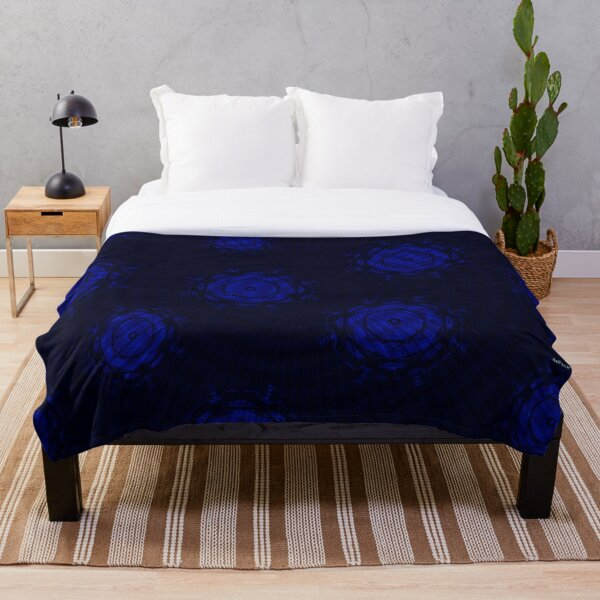 Abstract Circles in Blue Variants Throw Blanket
