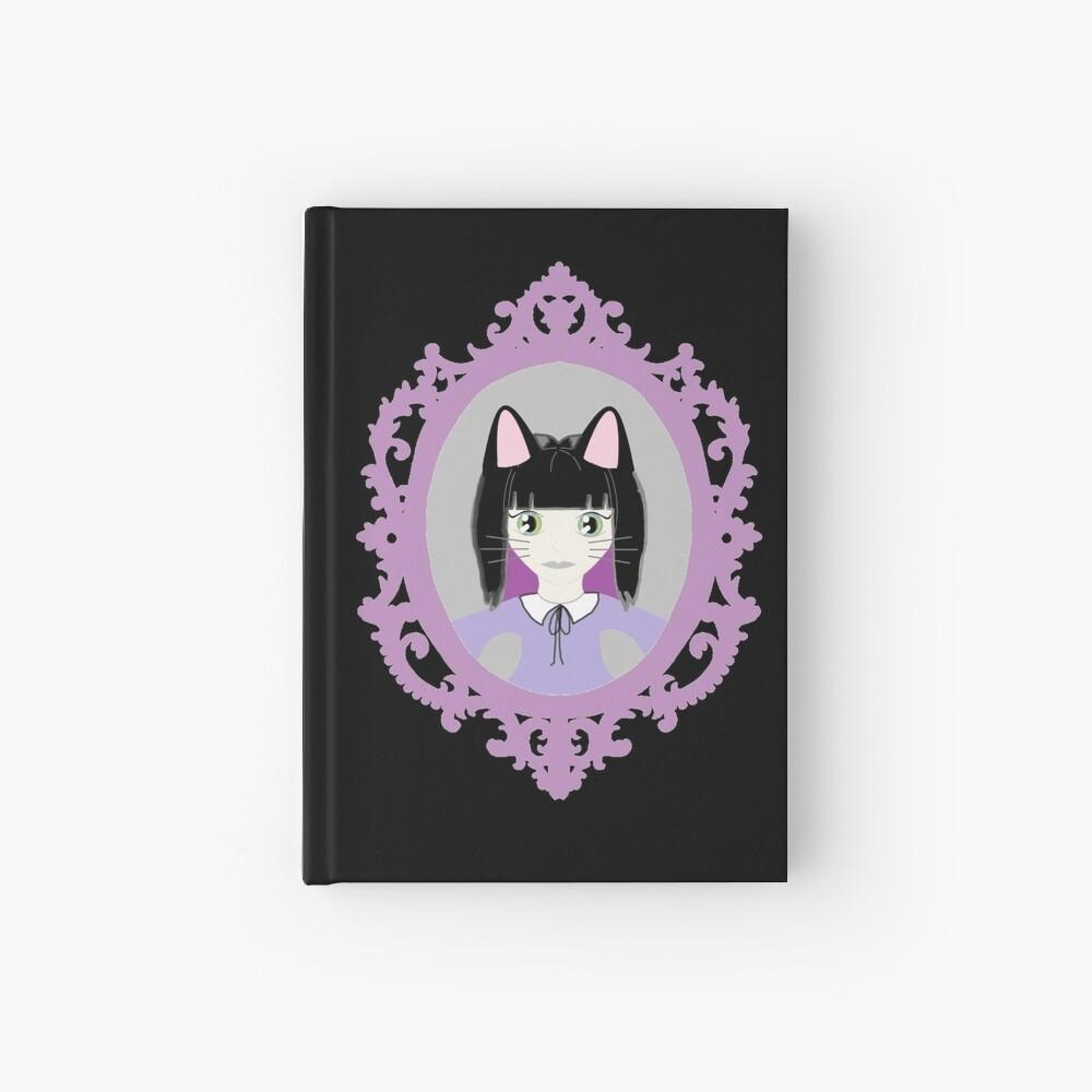 Kawaii Cat Cosplay Girl Hardcover Journal