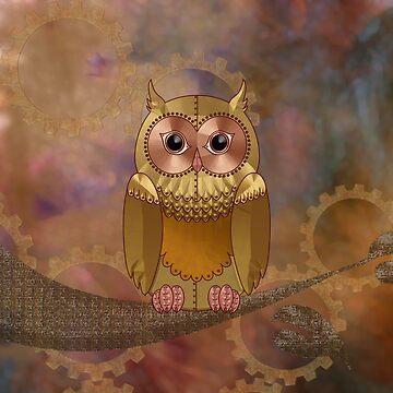 Steampunk Mechanical Owl by ArtformDesigns