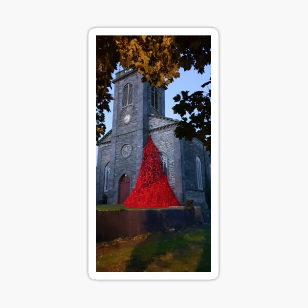 Amlwch Poppy Memorial Sticker