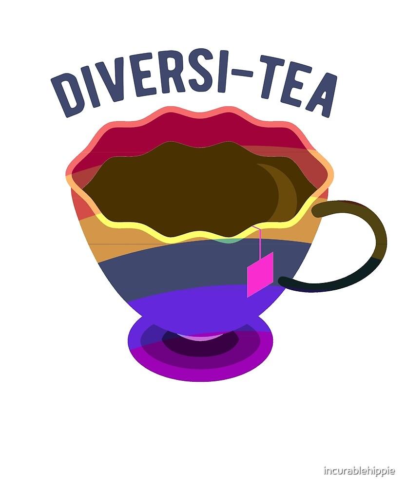Diversi-tea rainbow flag tea cup by incurablehippie